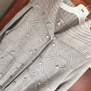 Apt 9 gray long sweater snap buttons